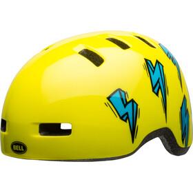 Bell Lil Ripper Helmet Kids hi-viz/blue bolt